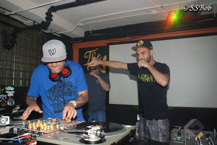 Dj'n the Longest running party in the DMV Transit. DJ Jeyone and Throdown came out to support