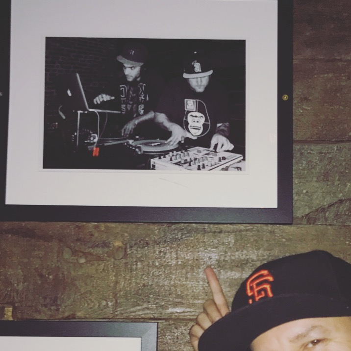 Flash DC Nightclub framed us and put us on the wall. Pictured with USA DMC 2018 Champ Dj Throdown