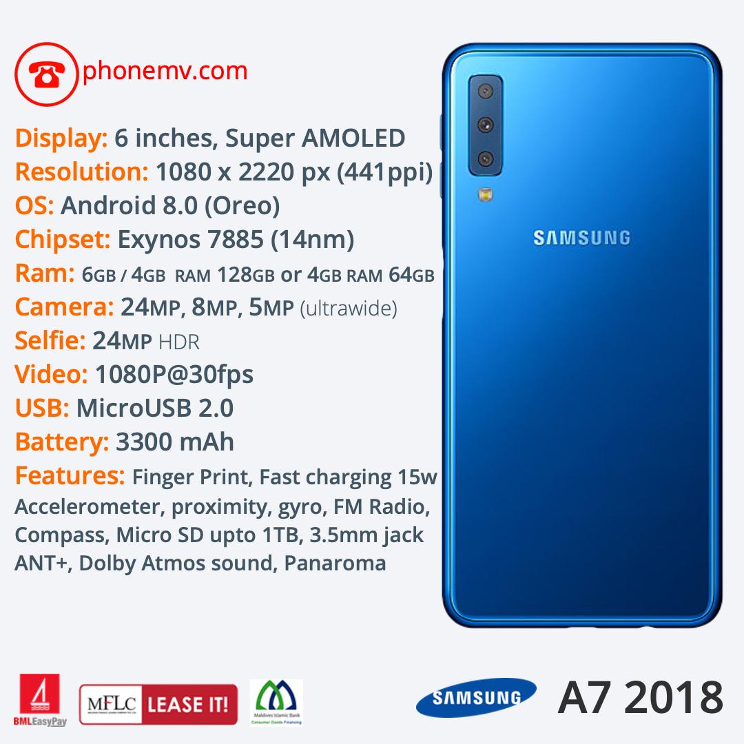 Samsung A7 2018 — Phone MV: Male' Maldives best phone seller, shop, online