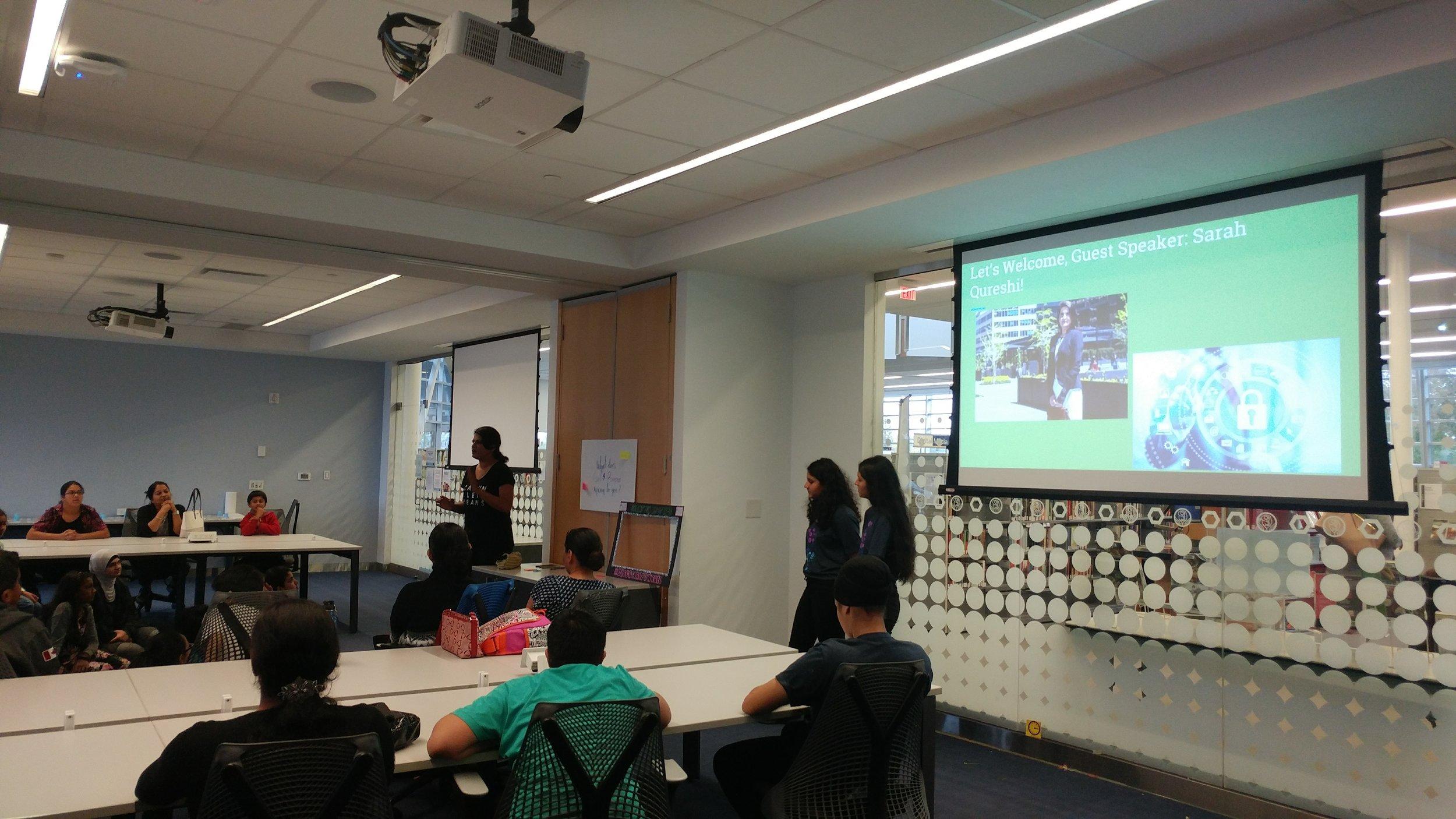 High School Girls Team gives presentation