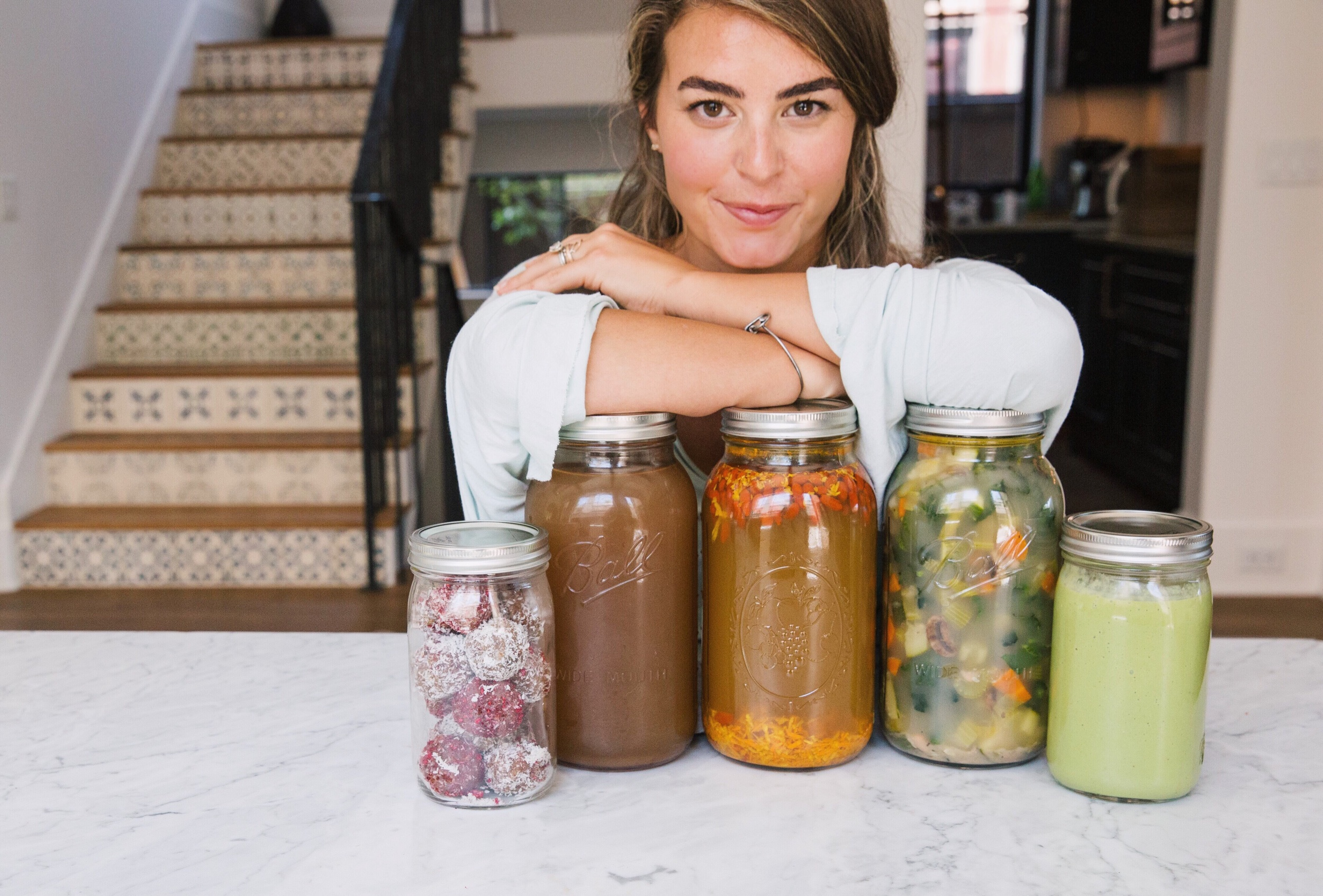 everything is packaged in glass mason jars