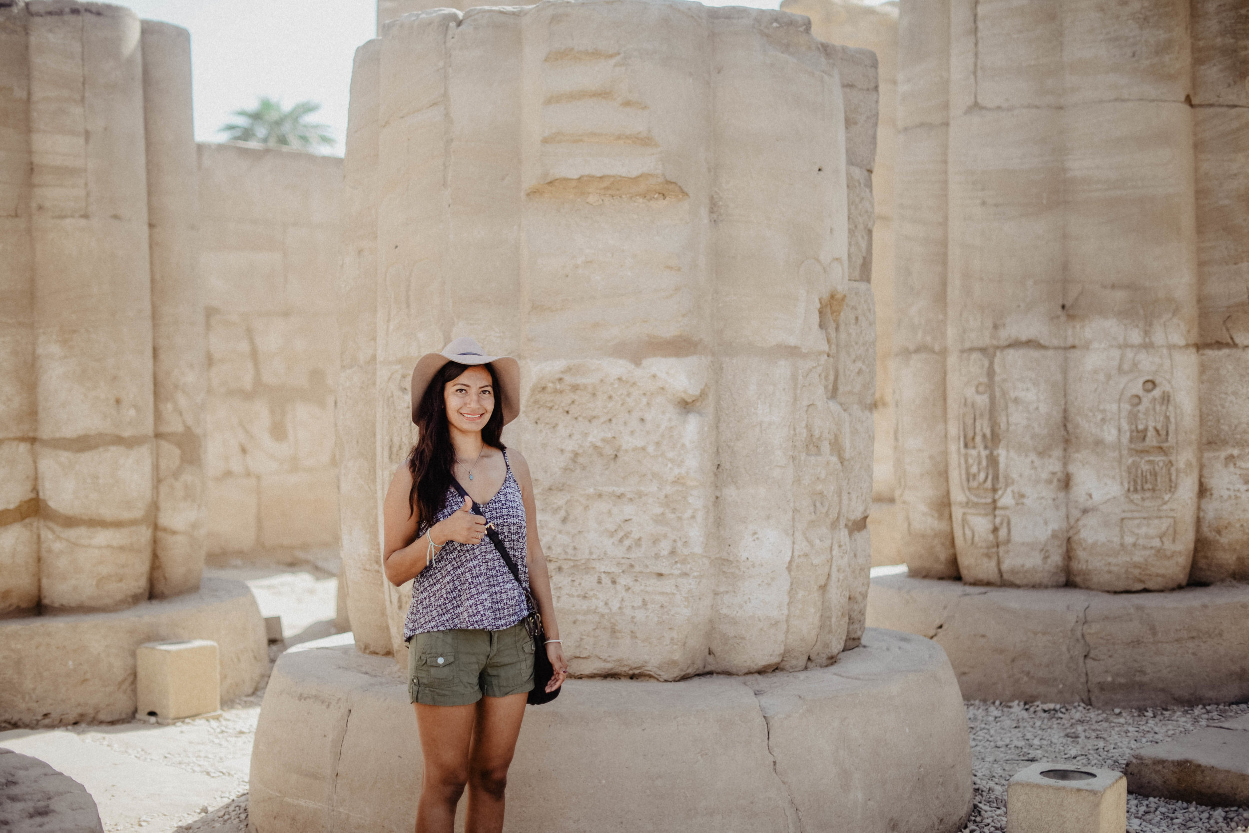 Luxor Temple - This place was located in the center of town, small fee to pay for entry but not much. Lot's of columns and hieroglyphics everywhere, plus tons of statues. Definitely do not miss this.
