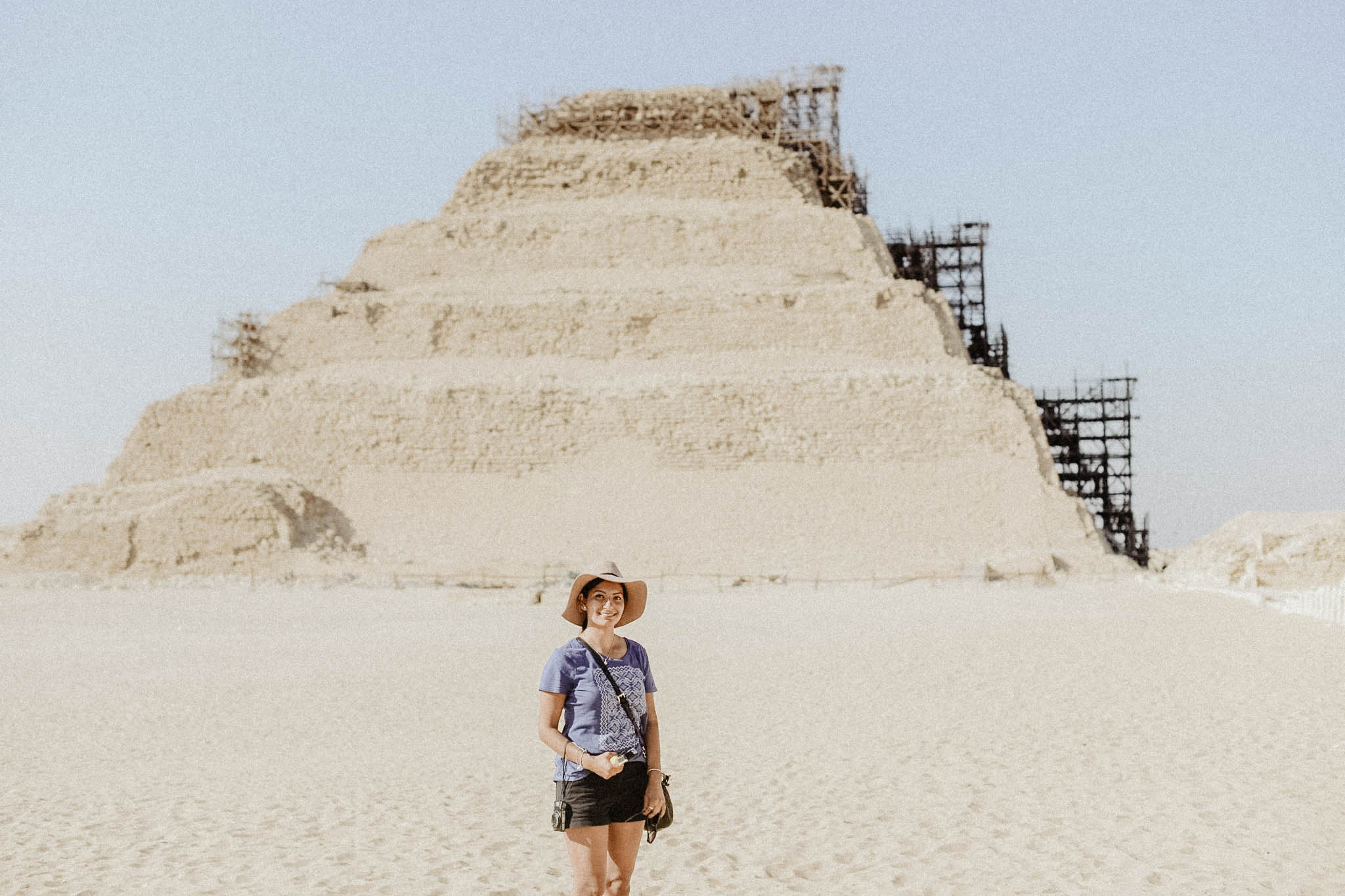 Step Pyramid of Djoser: - Another location that wasn't too far from the Pyramids or Sphinx. As you can tell by my clothing, we were able to visit all locations in one day, I swear I'm not re-wearing anything lol Plus, with the weather and how hot it was, I wouldn't even give it a try.