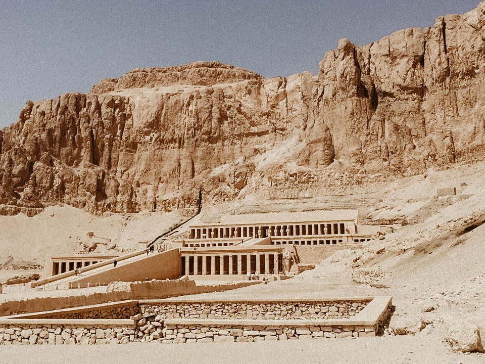 Hatshepsut Temple - I loved this place, it's carved off the side of a mountain and was made for a female pharaoh. #girlsrule