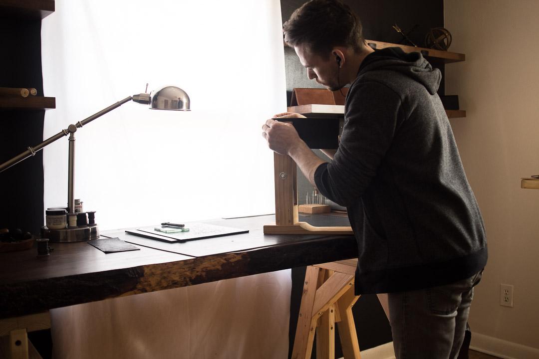 handmade wallet studio