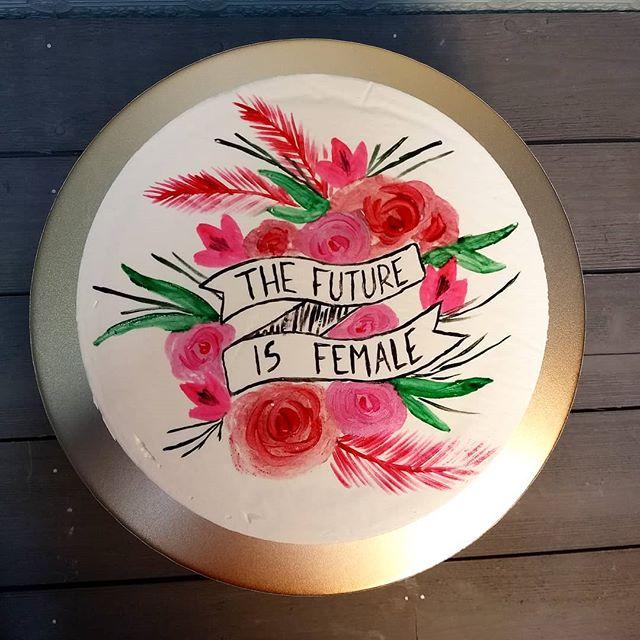 #cakefeminism #paintedcake