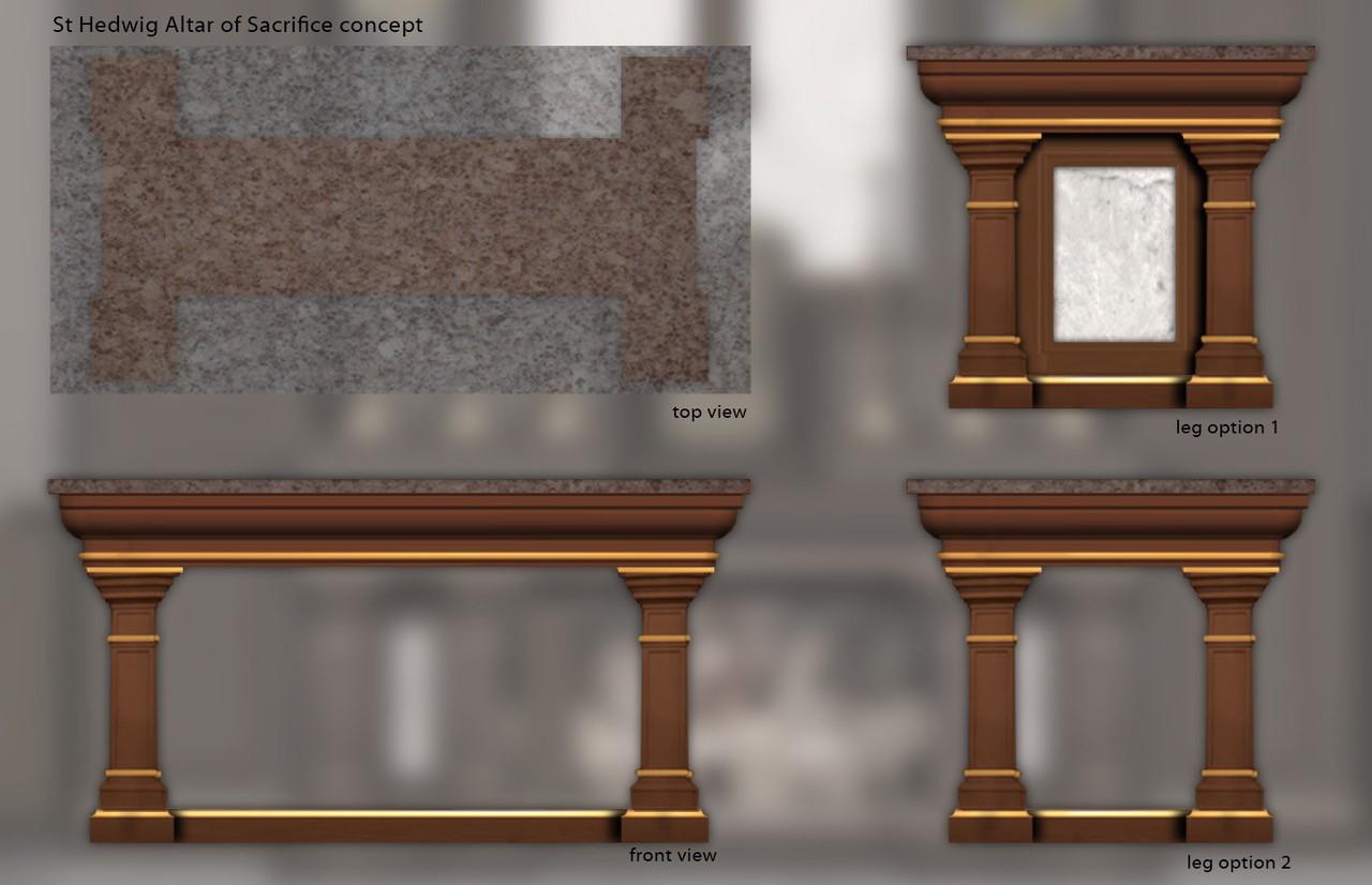 St. Hedwig Altar of Sacrifice concept
