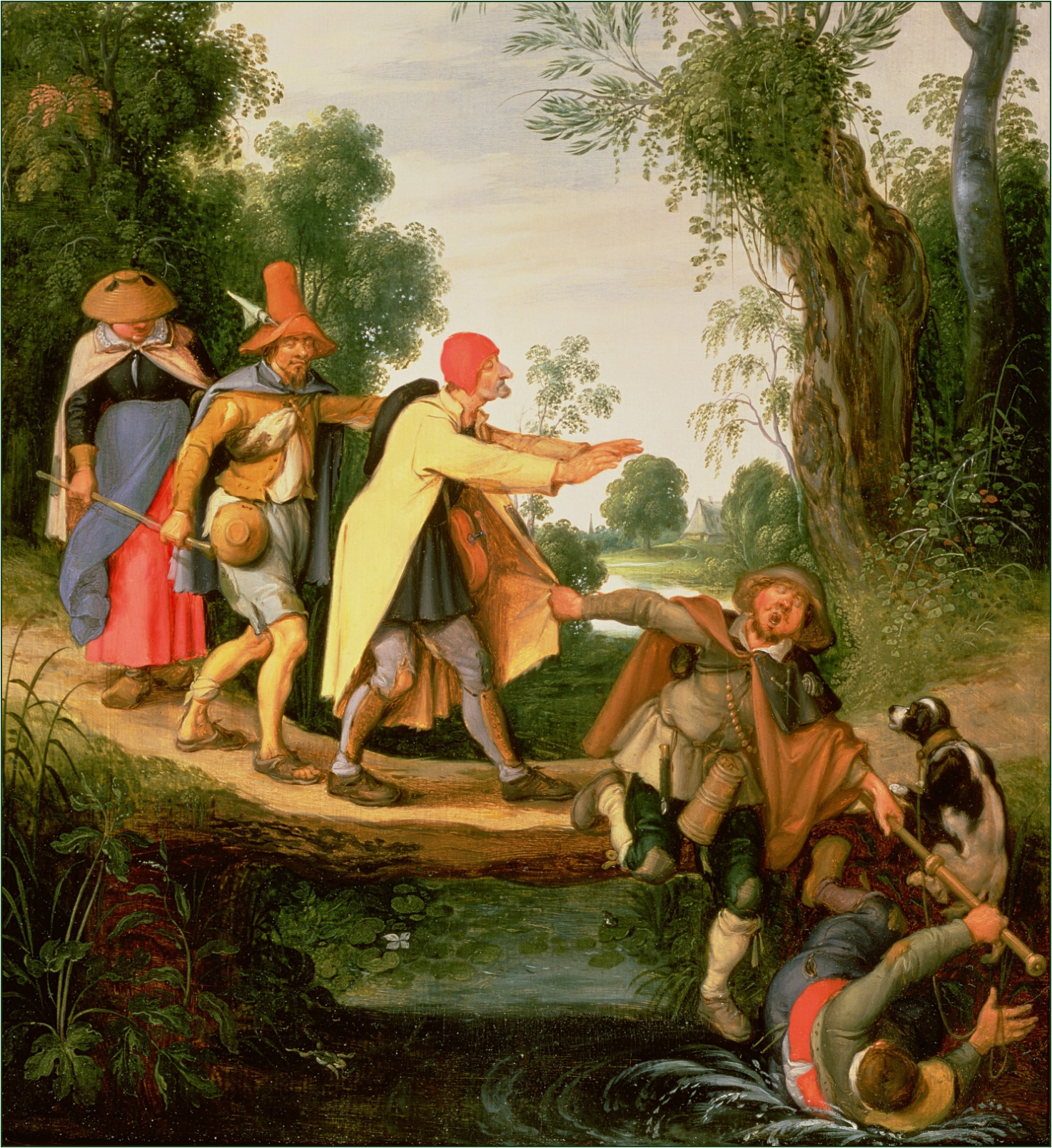 The cover image is  The Blind Leading the Blind  by Flemish Baroque painter Sebastiaen Vrancx (1573-1647)
