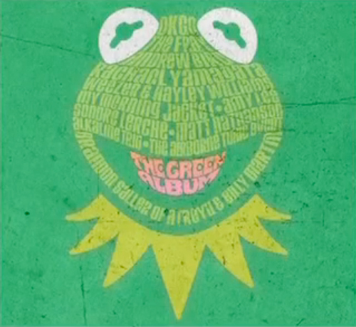 The green cover for the new Muppets film