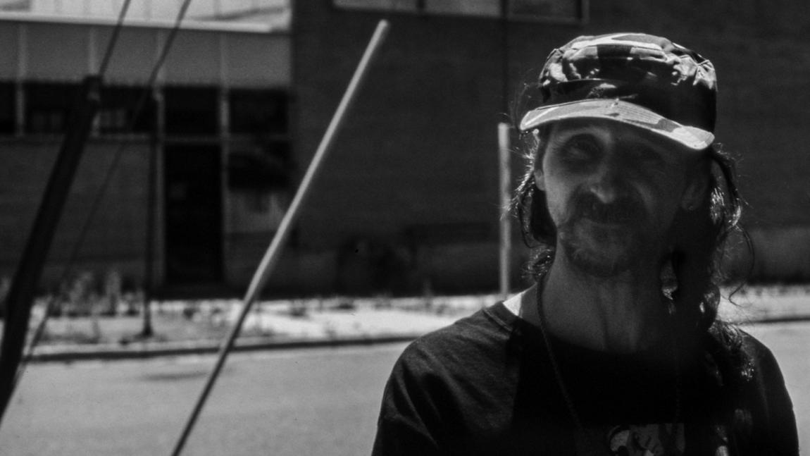 """""""So many of these people could be contributing to society,"""" said Susan Sarandon. """"It's all about imagining possibility."""" Pictured is Mark on the streets of Denver. (photo credit: Donato Bragagnolo)"""