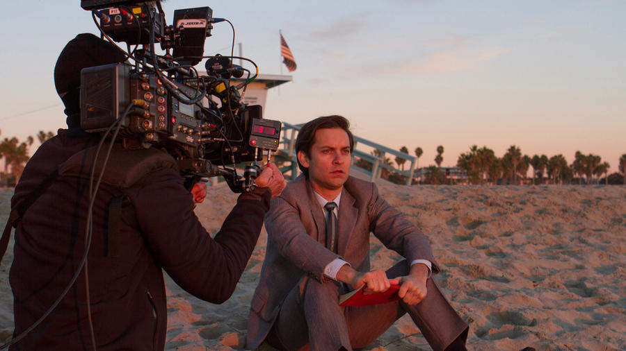 "Tobey Maguire on the set of Edward Zwick's ""Pawn Sacrifice."" (Bleecker Street)"