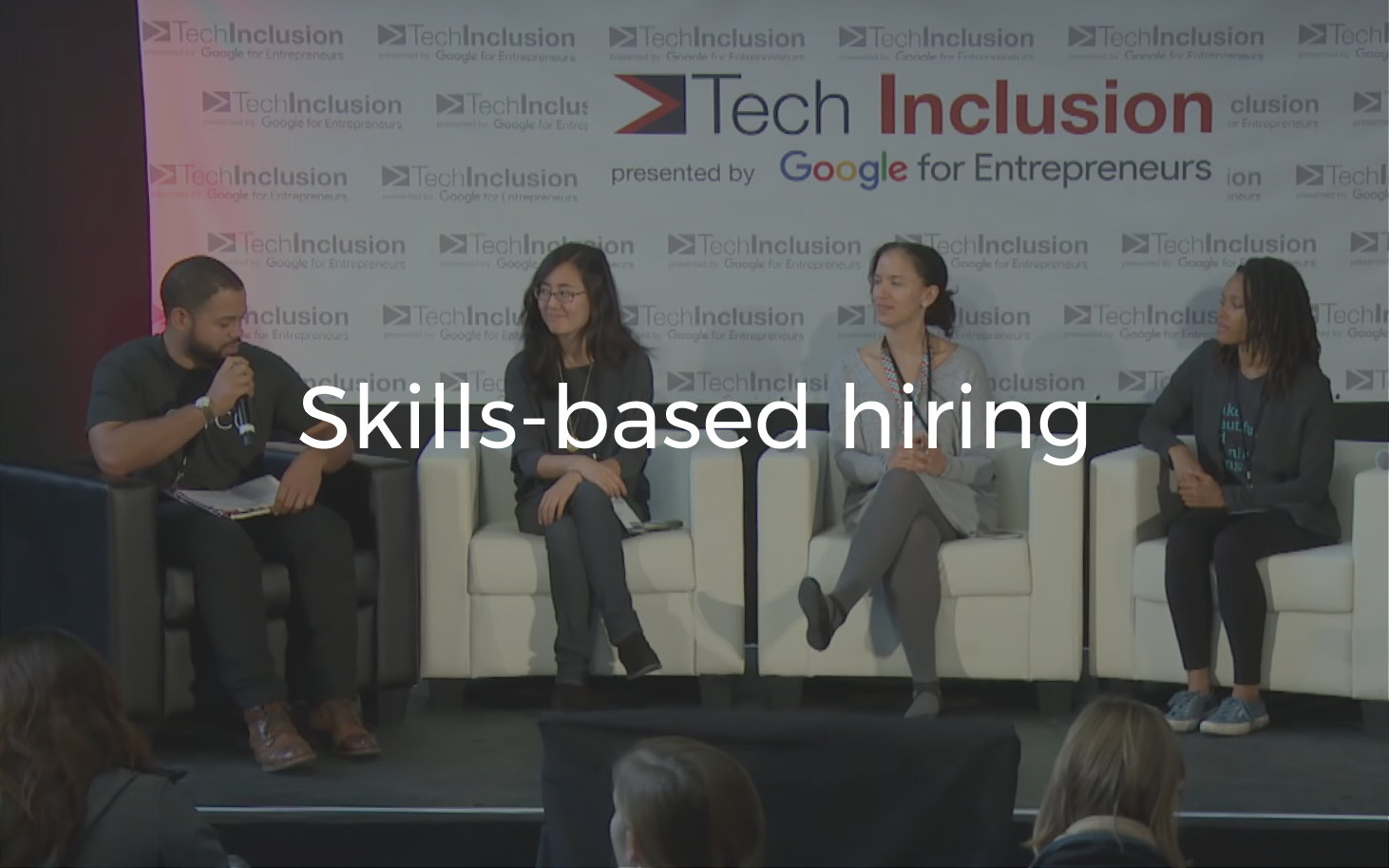 How companies can focus on skills, not pedigree, at Tech Inclusion, the largest D&I-related conference.
