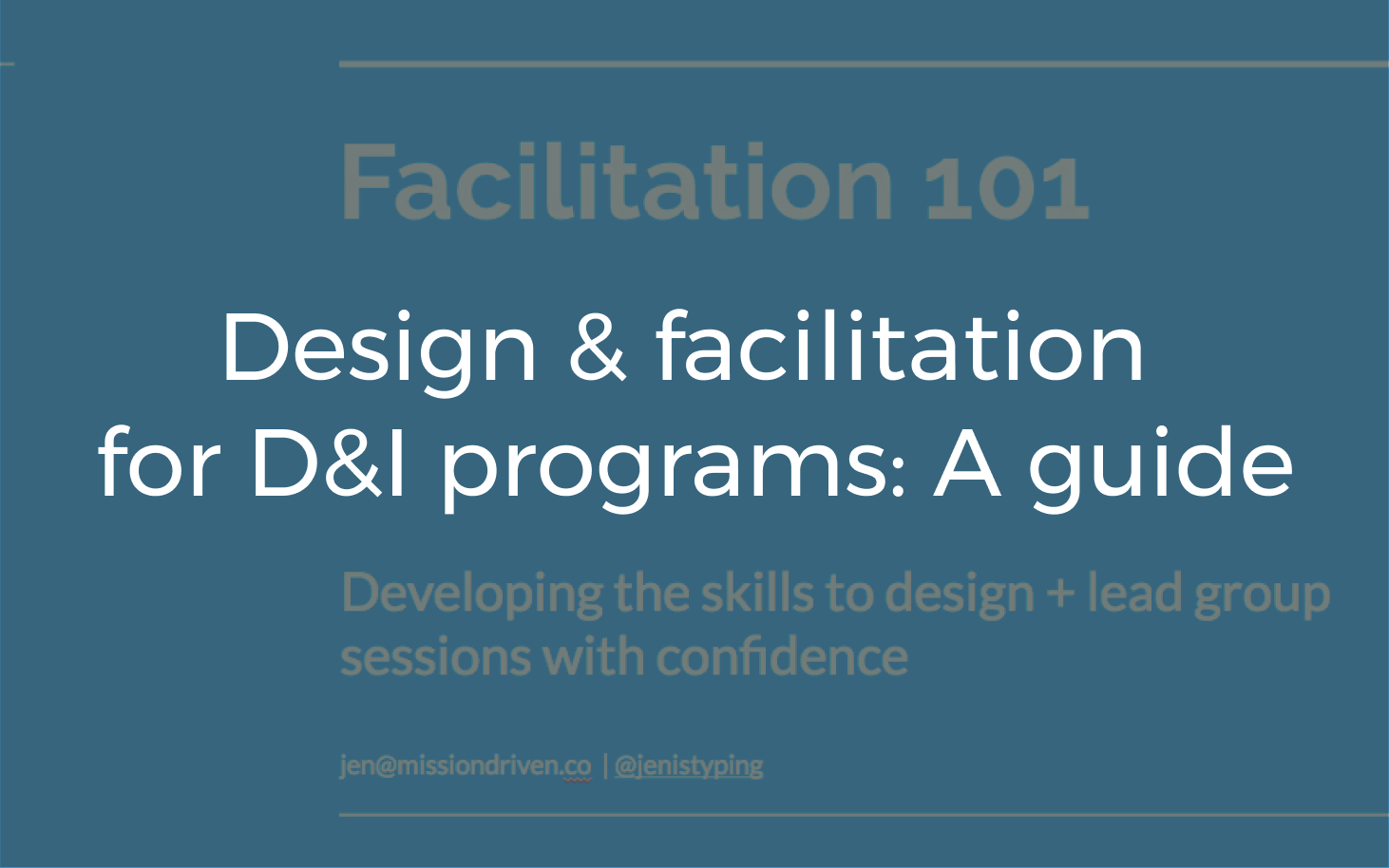 Training I designed and gave to D&I taskforce members to impart the tools and confidence to lead.