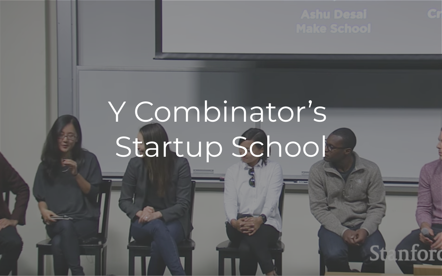 Startup School is a Stanford University course focused on equipping entrepreneurs to build the best companies possible.