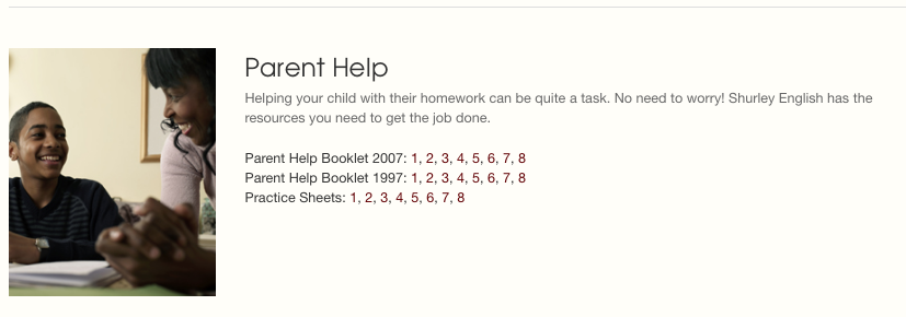 - Step 3:Scroll to the bottom of the page to the PARENT HELP section.Click the level desired.