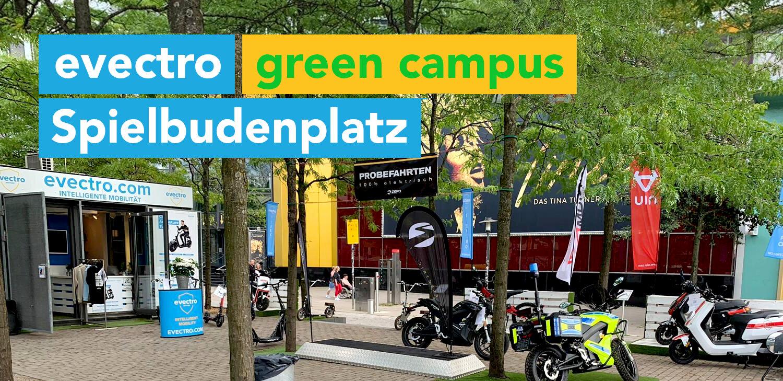 Der evectro green campus steht für - 100% Power aus dem Stand - 100% elektrischen Antrieb - 100% Nachhaltig