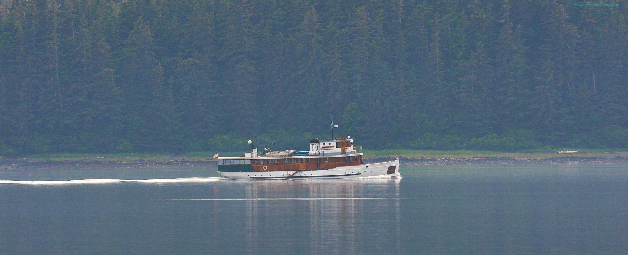 Cruising boat in BC
