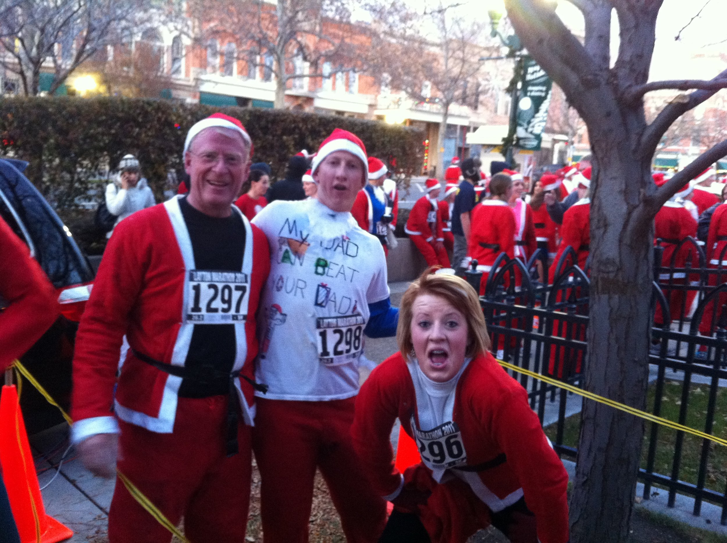 My dad Jeffrey Cooper, Steven Cooper and Sister MaraLyn Cooper helped my dad pursue his talent of running a 5K Santa Fun Run during own of the lowest points of his life!