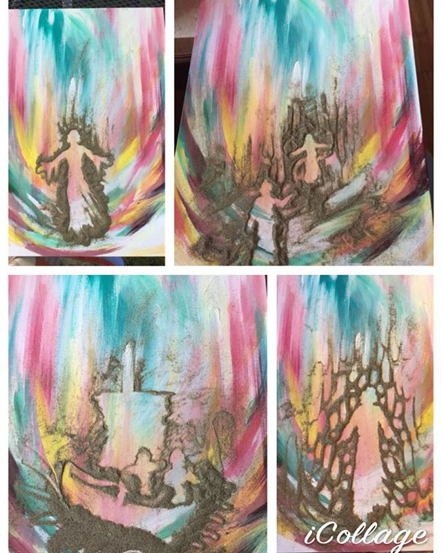 I learned from an artist Bruce Cramer an awesome idea using Pepper to help my creative process!  I paint an interesting background and then pour half a cup of Pepper on the dry painting and sculpt with my fingers potential paintings.  This artwork lent itself to a storm tossed sea with a ship or Jesus walking on water.  This is awesome because one doesn't lose one's background.  Take a photo of each composition to discover ones favorite , then shake off your he Pepper, get some good reference to paint from, and finish! . .  #art #artist #artwork #fineart #instaart #artistsoninstagram #drawing #painting #sketch #creative #artcollective #artist_4_shoutout #artsamazingz #arts_secret #arts_help #artistic_nation #creativeuprising #artsbeautifulz #artwork_in_studio #artisticdreamerss #artstarmag #artsnewss #utahartist  #mixedmediaart #krystalmeldrum #ldsartist #worldofartists #artgallery #dailyart