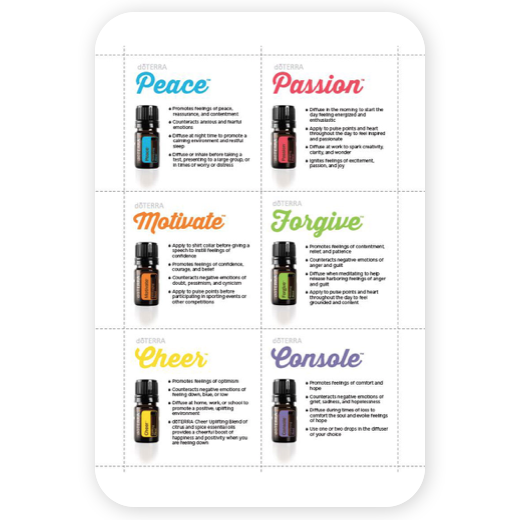 doterra essental oils emotional aromatherapy handout