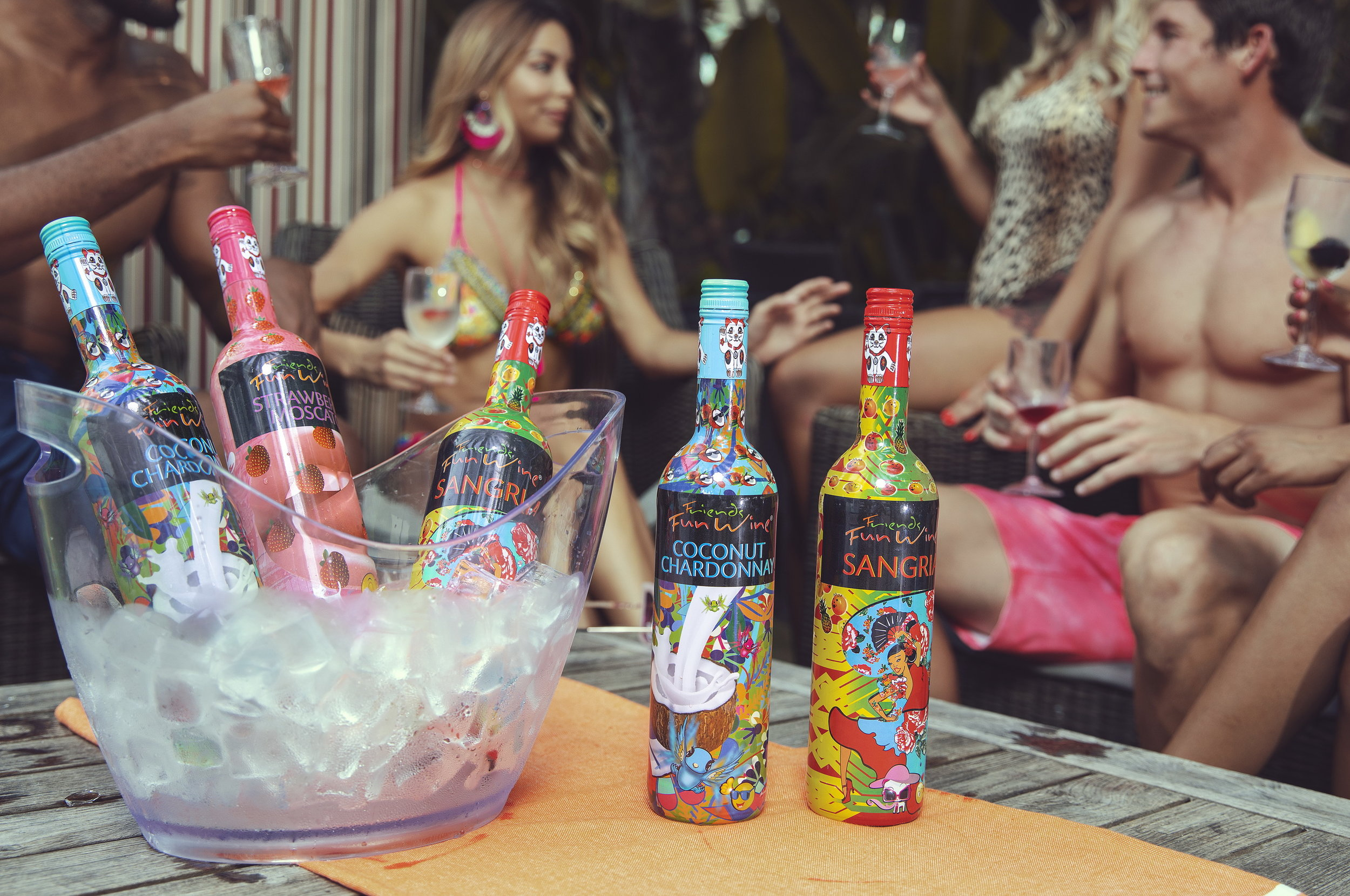 Friends Fun Wine - Social Media Ad