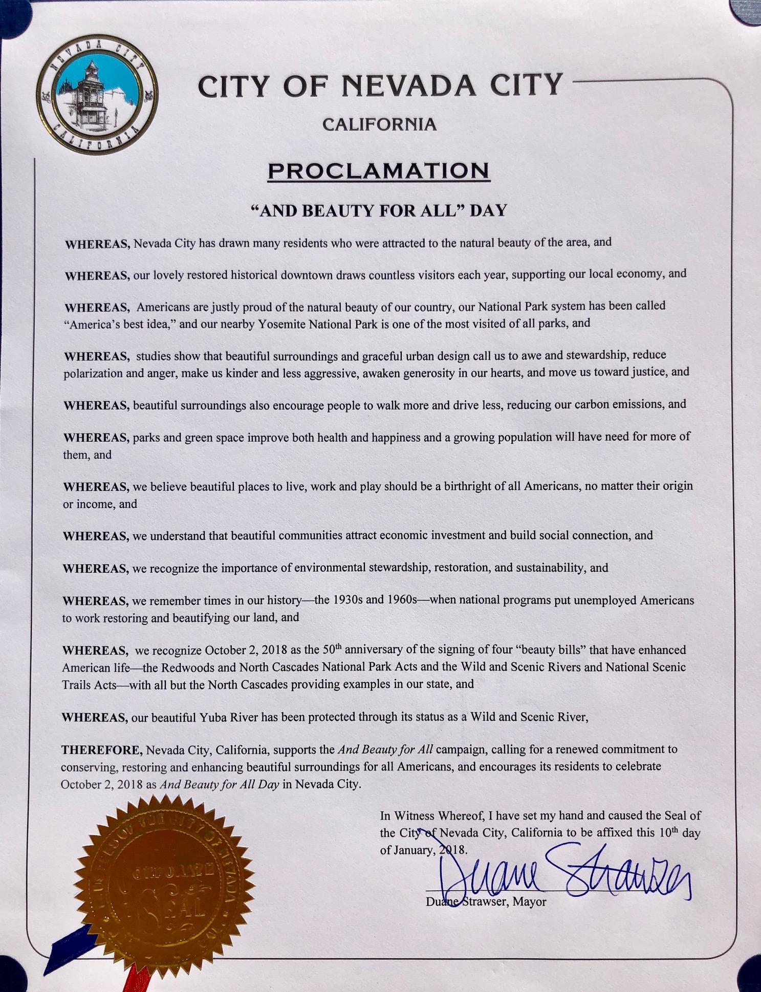 Nevada City official proclamation.jpg