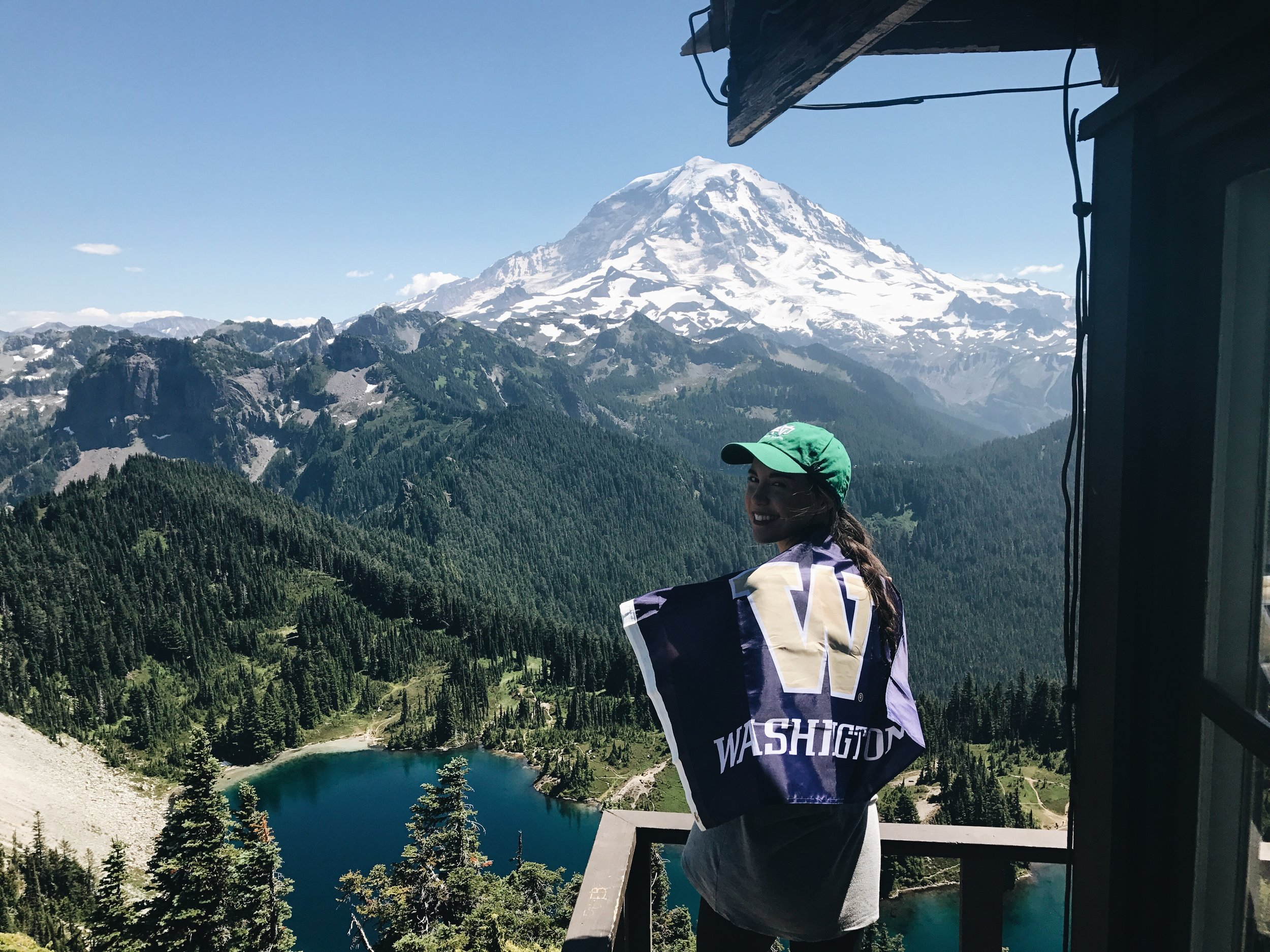 KARA AND MT. RAINIER