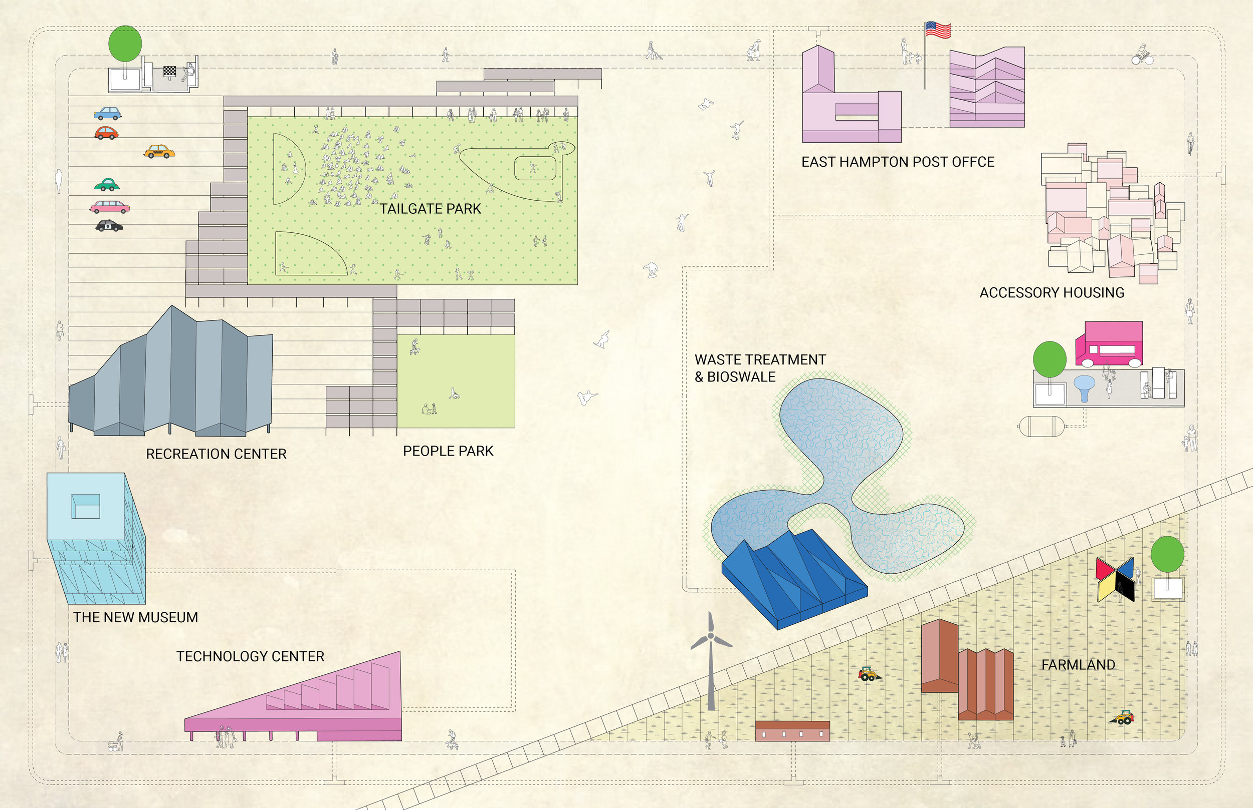 A map of the proposal by MB Architecture