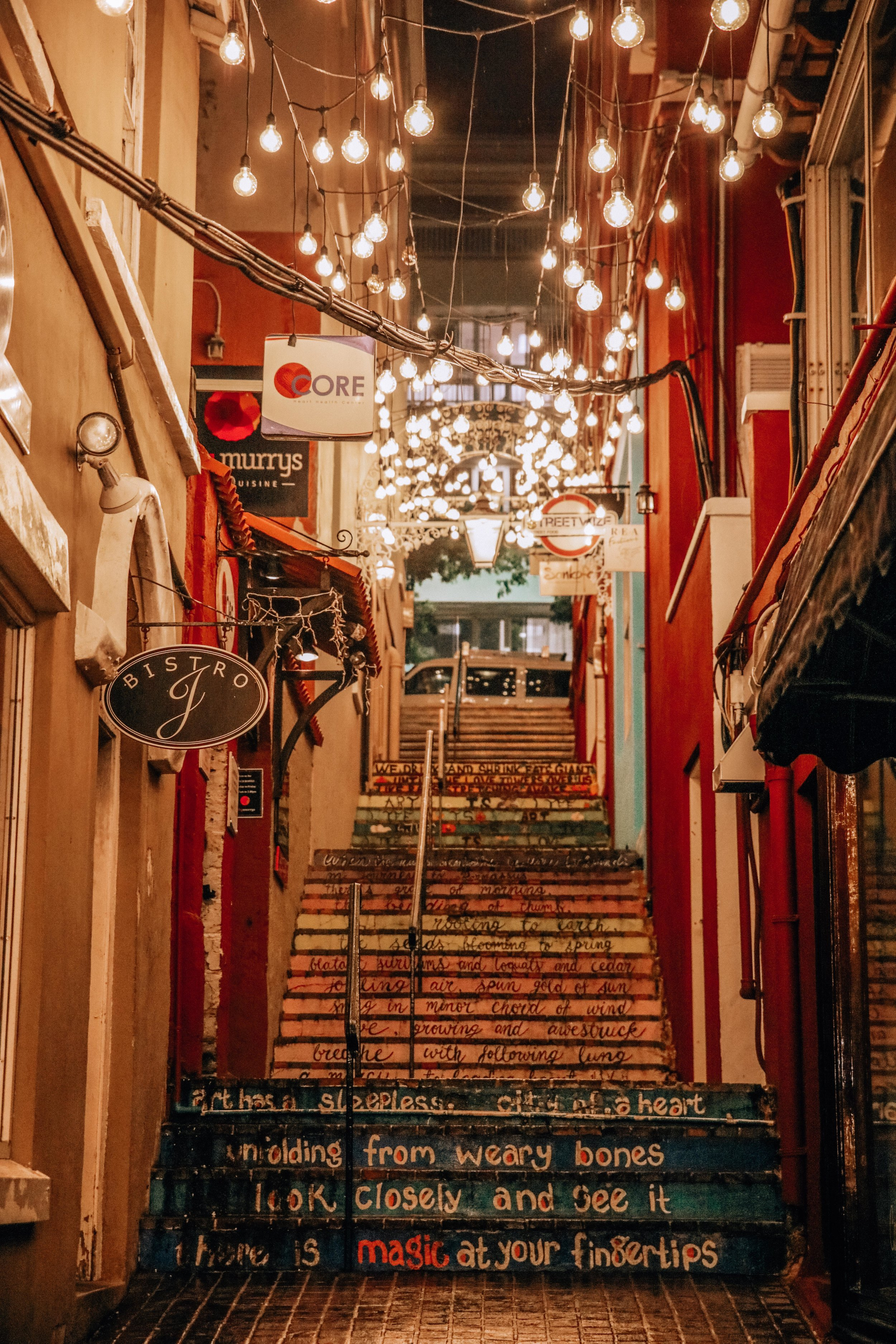 Beautiful alley - Make sure you visit this cute alley on Chancery Lane. It's very pretty at night.