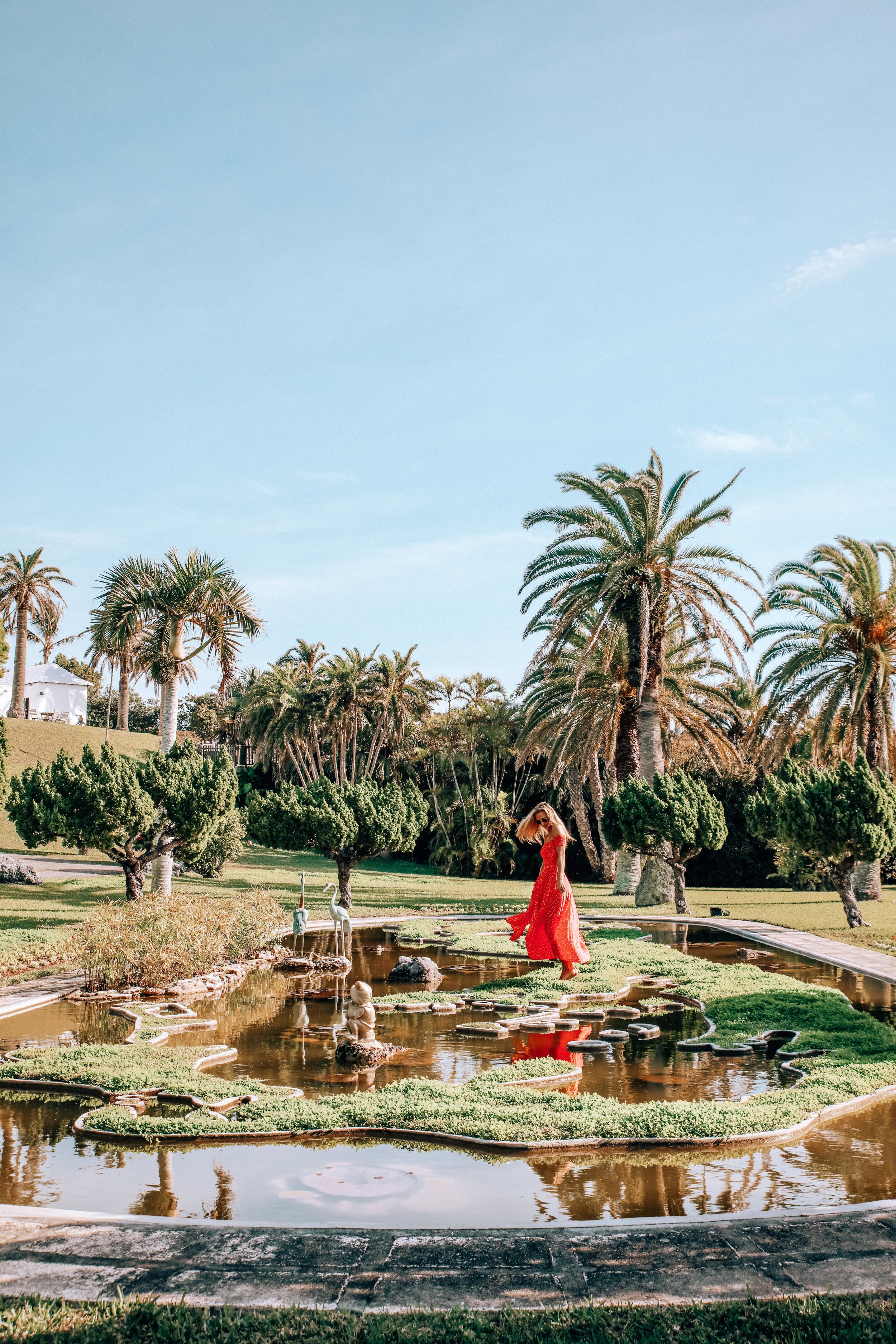 Palm Grove Gardens - The pond which is shaped like the Bermuda!