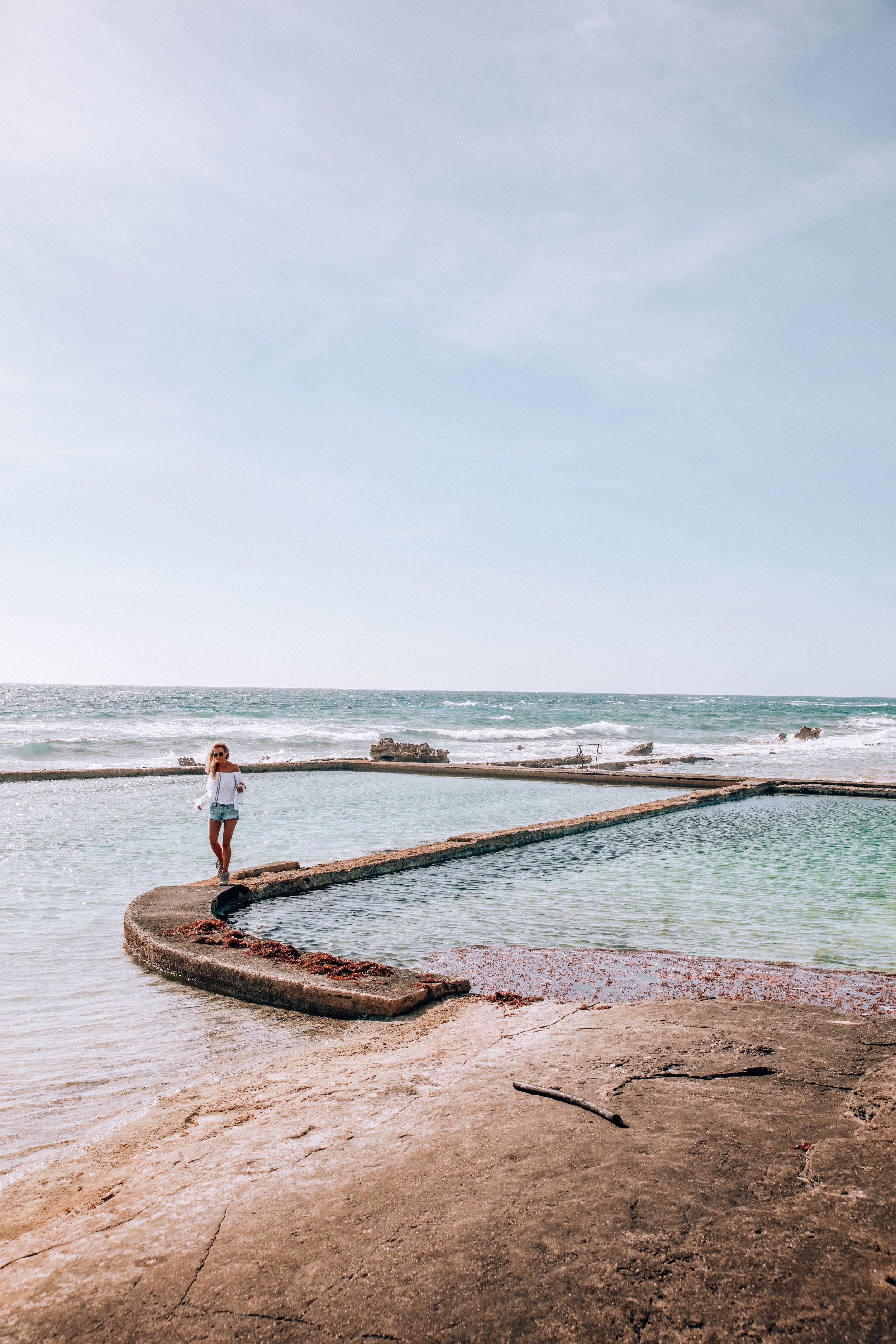 Salt water pools - If you feel up to a little exploring… walk to the bottom of Palm Grove Gardens to these Salt Water pools overlooking the ocean! Their not exactly Bondi Salt Water pools in Sydney, but they're still great ;)