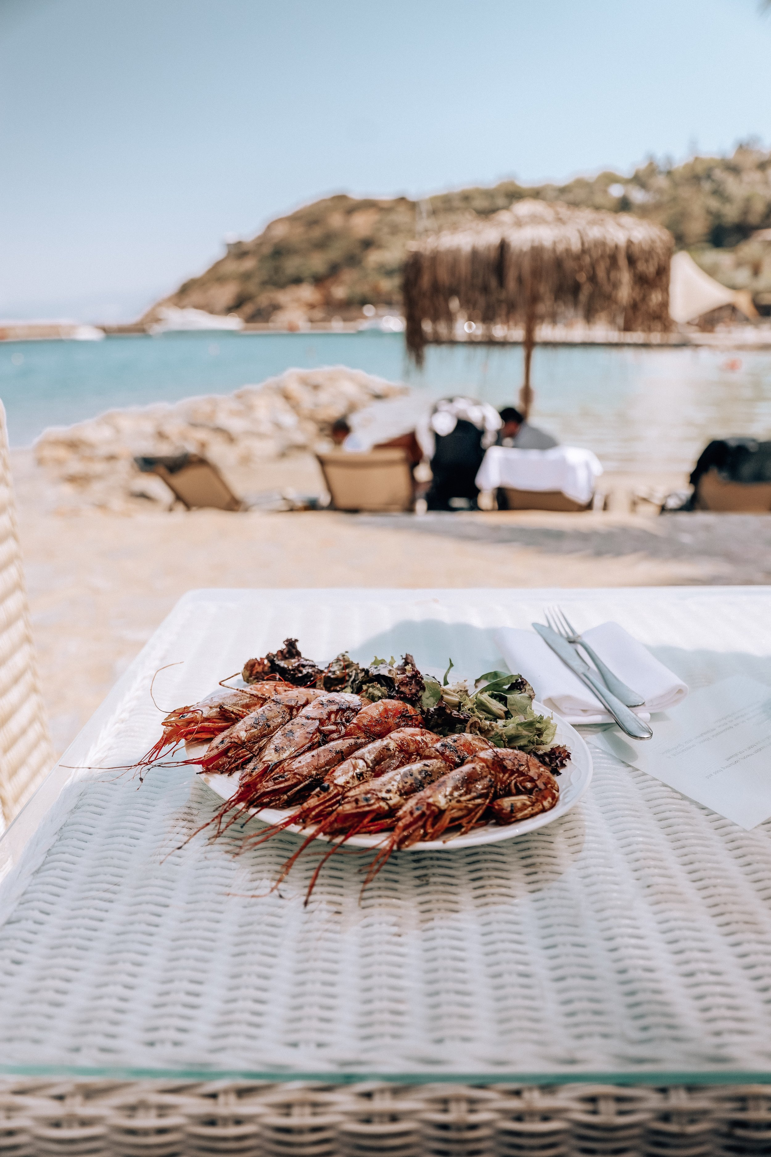 Grill House - The most delicious grilled shrimps on the beach for lunch..