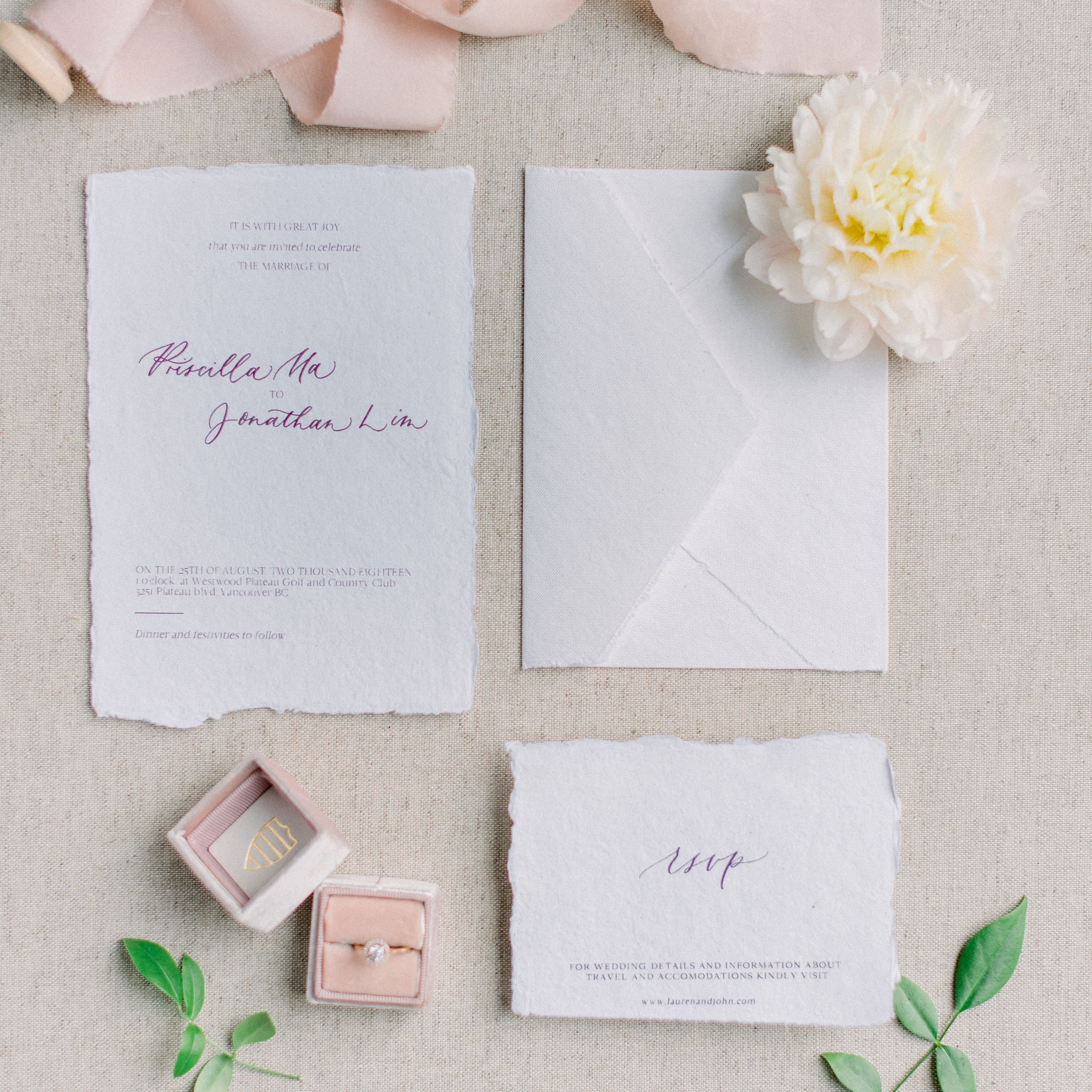 Services - Specializing in handwritten event stationery and signs