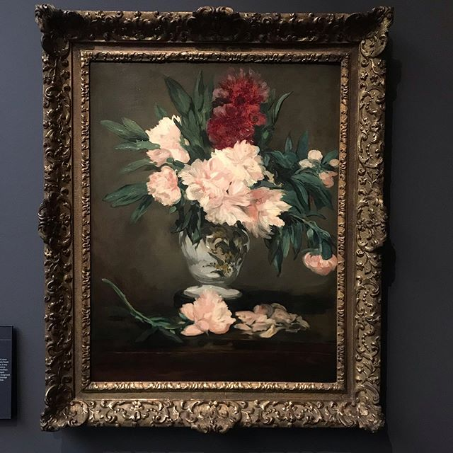A little break from regular programming because I spent the weekend in Paris staring at these amazing peonies by Renoir. Can you imagine if you were alive then to commission a piece like this?