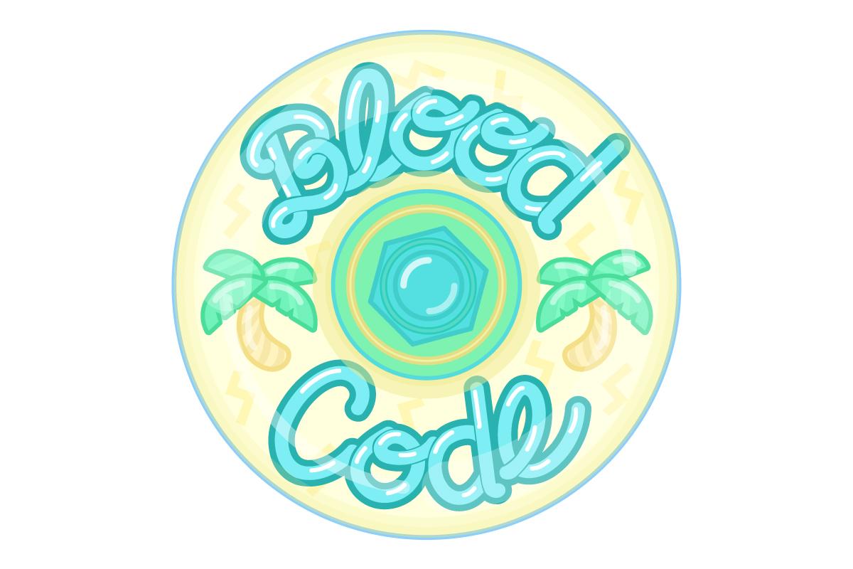 Skate Wheel Logo for Blood Code