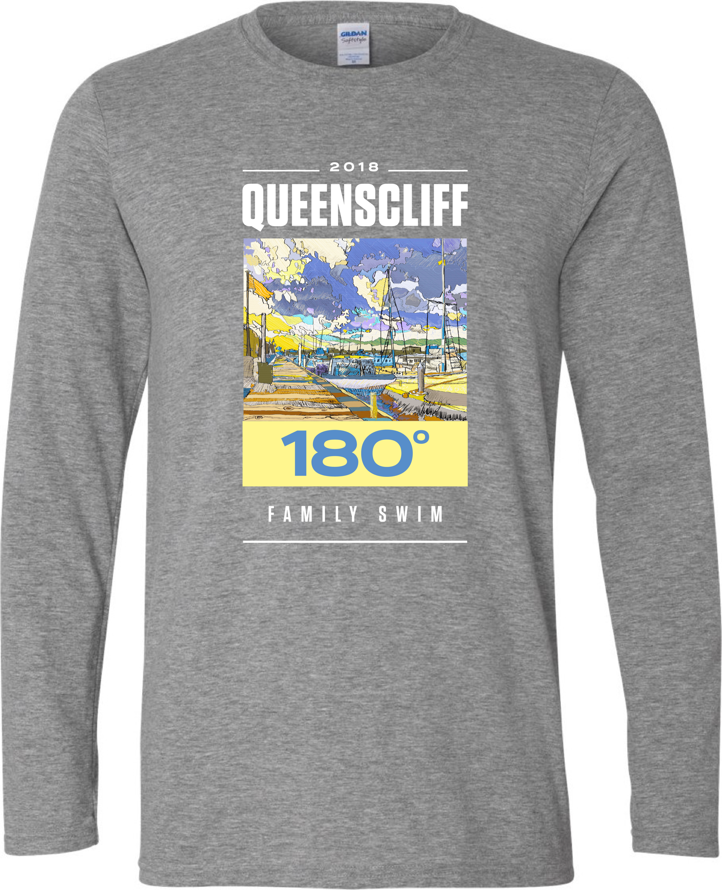 2018 Swim Shirt - Artwork created on IPAD by Ralph Guice, Eltham Victoria.Graphic Design by Duro Cubrilo