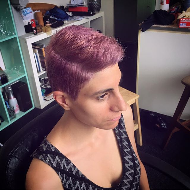 💜 This was fun 💜 swipe ➡️ for the before  #hairbyme #haircolor #haircut #hairstylist #shorthair #purplehair #hairdresser #hairstylistsydney #sydneyhairdresser #sydneyhairstylist #sydneyhair #beforeandafter #beforeandafterhair #wella