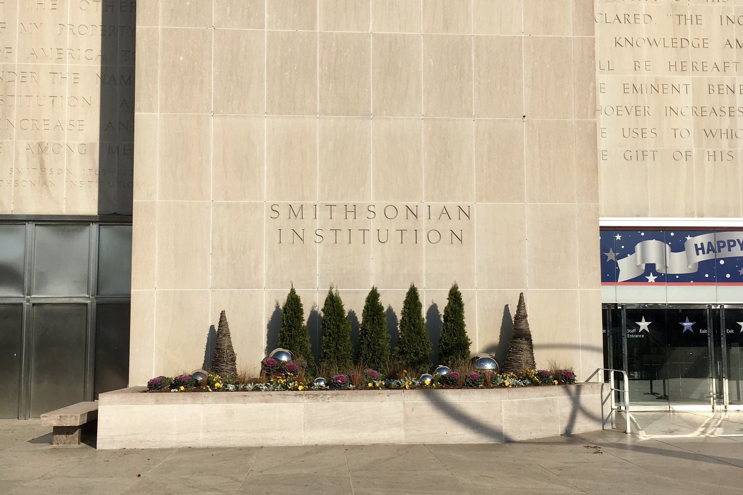 Image: the front of the Smithsonian National Museum of American History