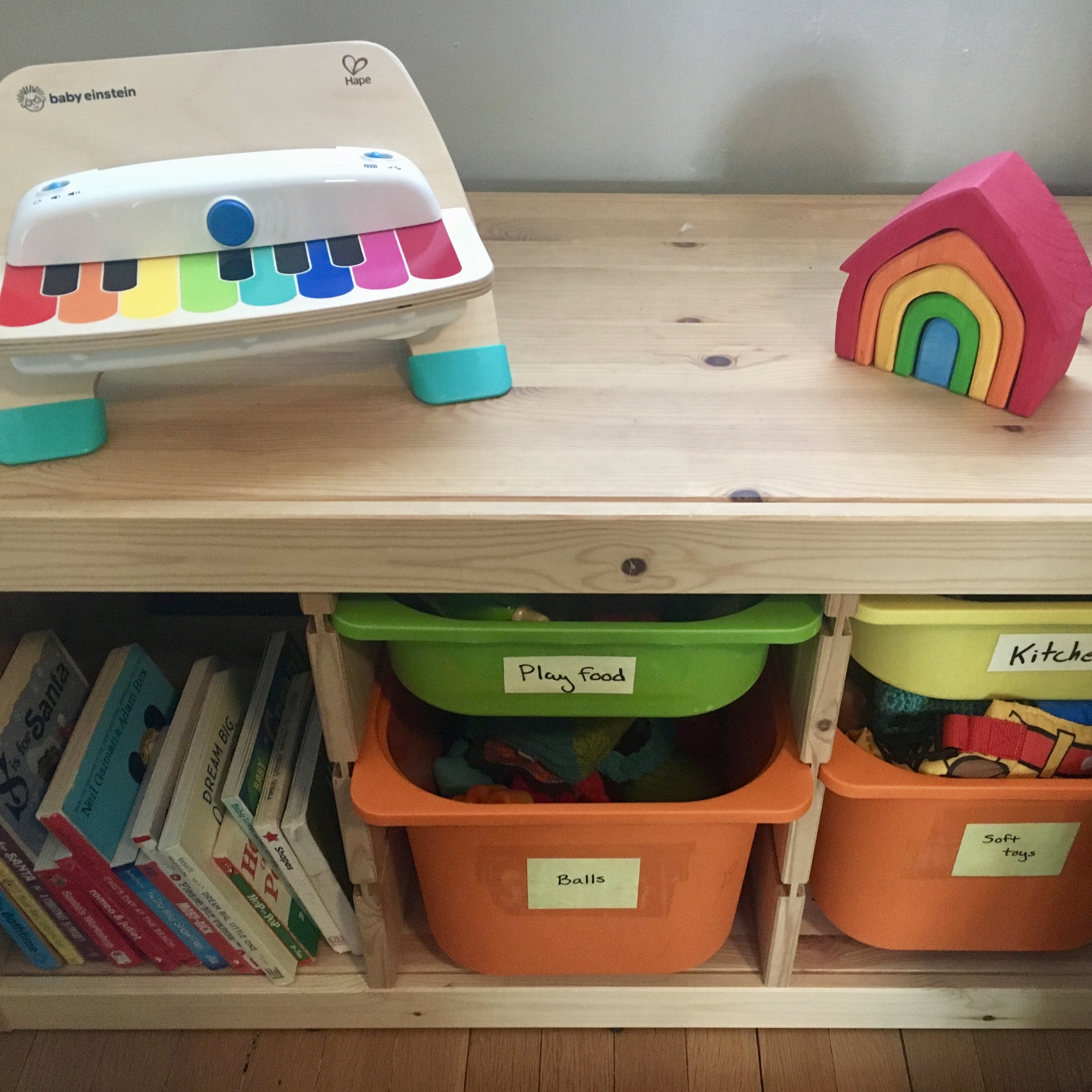 Image: Shelves of toddler toys