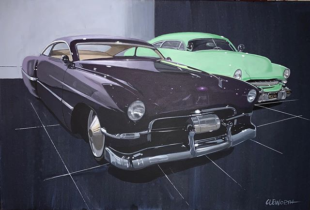 """New painting 🚨 This piece is of @zztop custom Cadillac """"Cadzilla"""" seen @petersenmuseum  What you guys think? Prints for sale DM for more info or check out my website.  #cleworthfineart #artforsale"""