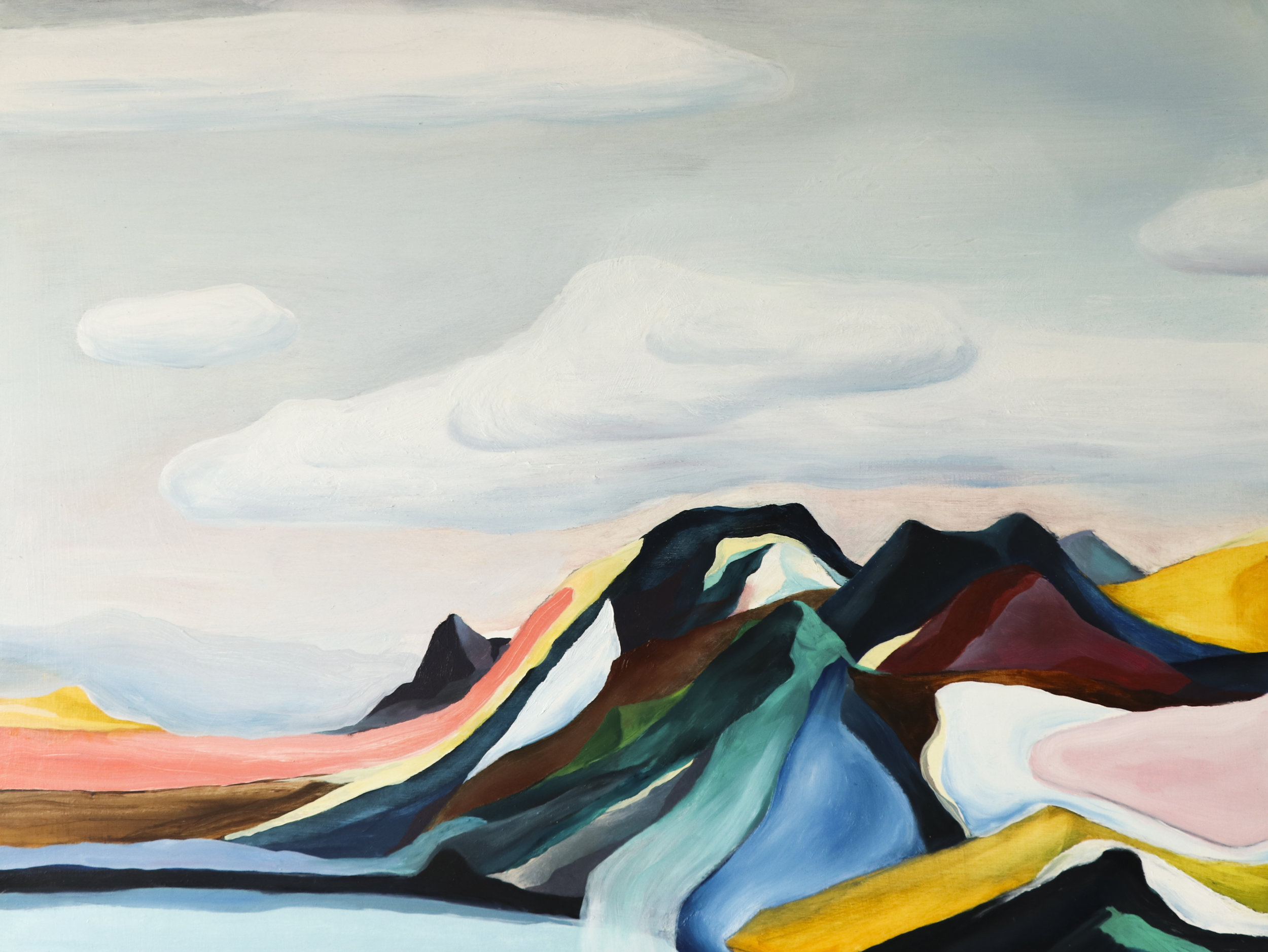 Along the laugavegur, Oil on Board, 46 x 62cm, $560.jpg