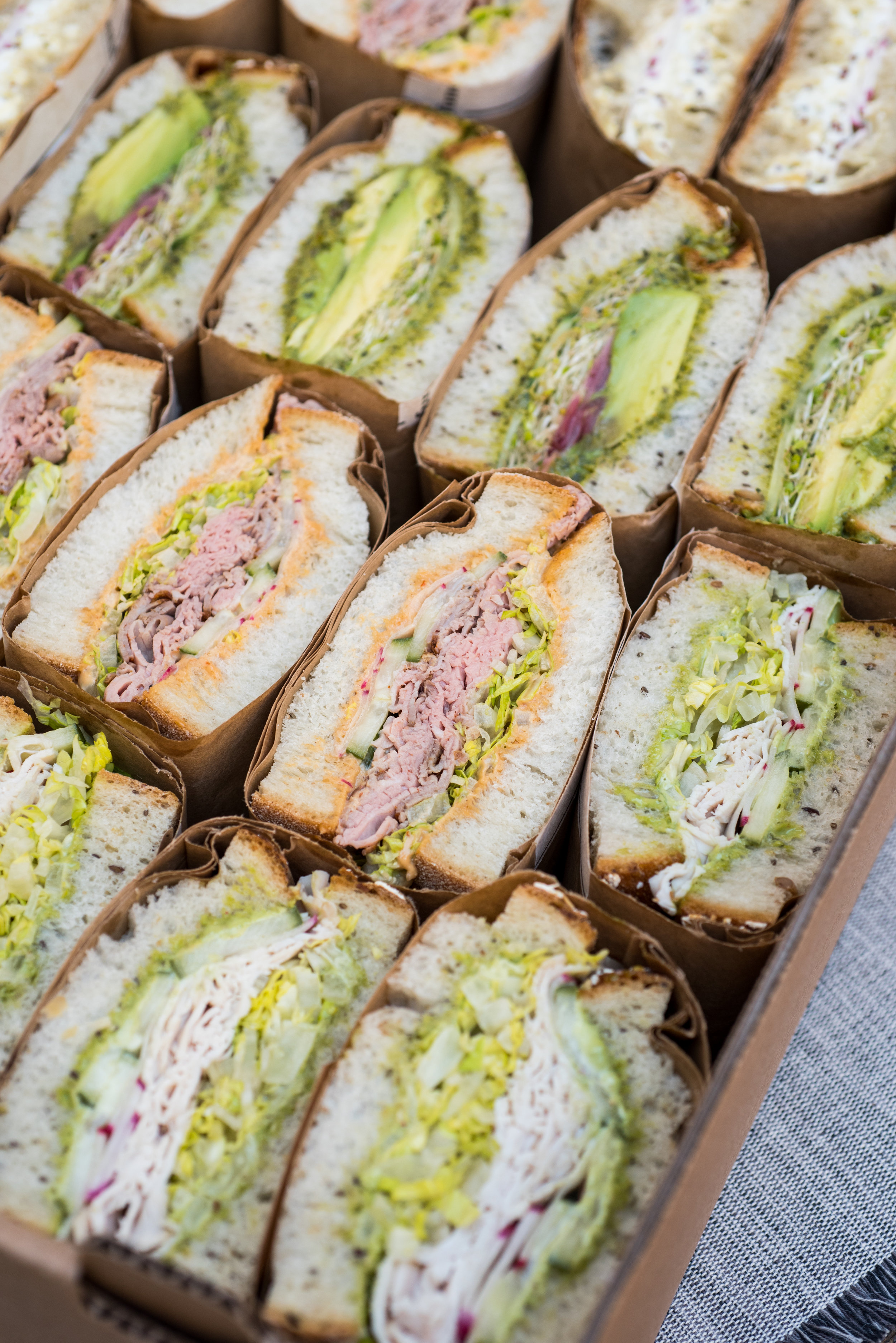 sandwich catering box