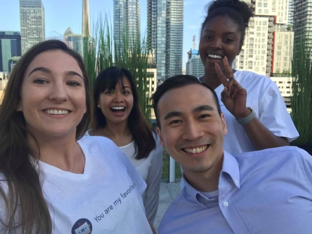 Brianna Croft (front left, MMI Candidate), Ryan Ho (front right, VP of Collaborations)