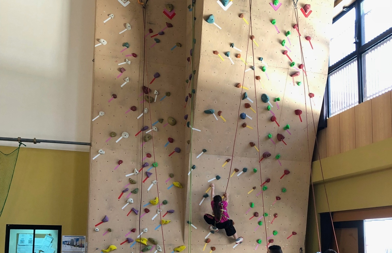 Rock Climbing - Come try our rock wall and see how high you can climb.