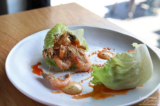 New on our Autumn Menu: Crisp School Prawns North Sea Style piled into lettuce cups and served with aioli to balance the flavours. We say it's the perfect snack for when you come in for Happy Hour 😉 Photo: @achronicleofgastronomy