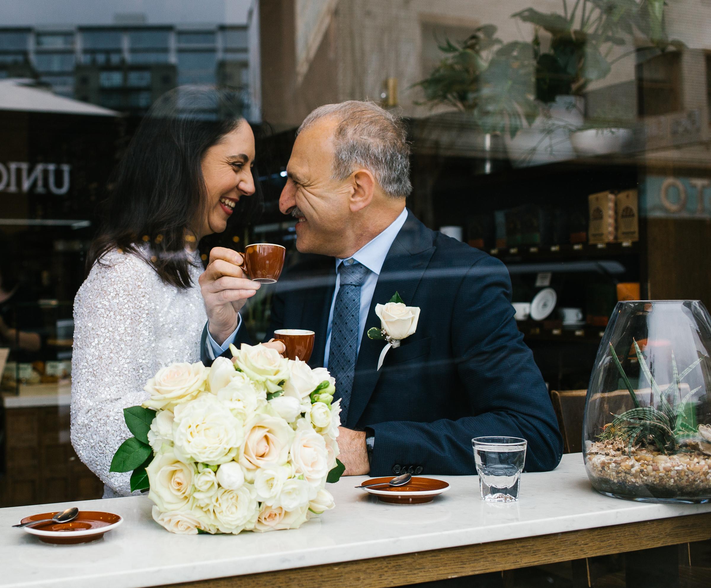 Linda + Moreno - a rainy downtown elopement