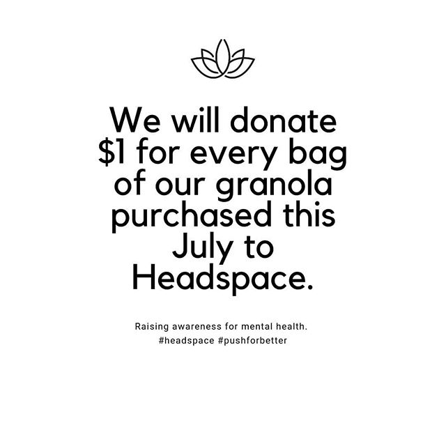 💛💚 We are super honoured and excited to be donating $1 for every bag of our granola purchased this month to raise funds for @headspace_aus 💛💚. Headspace do amazing work providing tailored and holistic mental health support to 12 to 25 year olds across Australia. If you love our granola or have been wanting to try it for some time, now is the perfect time to purchase a bag AND support a wonderful cause. * Our founder Natalia is raising funds for Headspace through the @pushforbetter Push-Up Challenge this month by attempting to complete 3,128 push ups across 3 weeks. You can donate towards this good cause and support her efforts here: https://www.thepushupchallenge.com.au/pushuperer/7877 @pushforbetter * She will be sharing her push up efforts online! Anyone who donates over $50 in one donation will get a mention and she will do the corresponding number of push ups within one day (limit of one shout out per day). E.g. if you donate $200, she will pick a day, physically do the 200 push ups on social media and give you a mention on Instagram! * We will post the figure count of the amount of money we raise at the end of the challenge! Please join us in supporting Headspace.