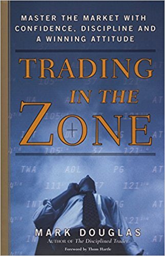 Trading In The Zone - Douglas uncovers the underlying reasons for lack of consistency and helps traders overcome the ingrained mental habits that cost them money. He takes on the myths of the market and exposes them one by one teaching traders to look beyond random outcomes, to understand the true realities of risk, and to be comfortable with the