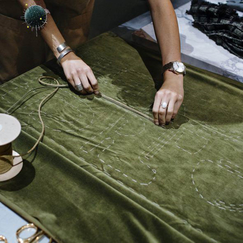 Aimee Betts-The New Craftsmen-Burberry Makers House-Velvet Bolster Cushion 001.jpg