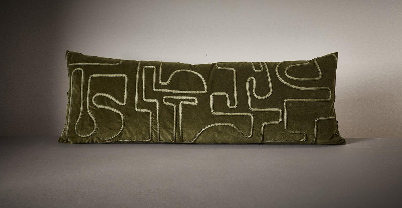 Aimee Betts-The New Craftsmen-Burberry Makers House-Velvet Bolster Cushion 002.jpg